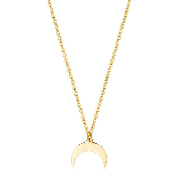 collier croissant de lune pas cher