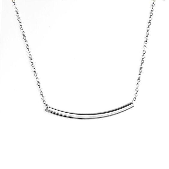 collier minimaliste argent