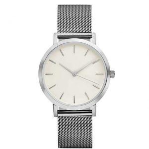 montre minimaliste argente