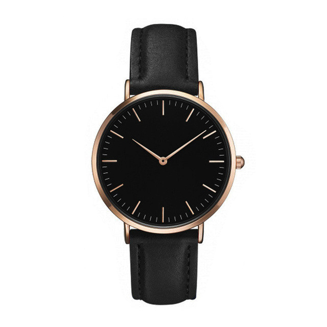 Sehr Montre minimaliste noir – THE TRENDY STORE NG07