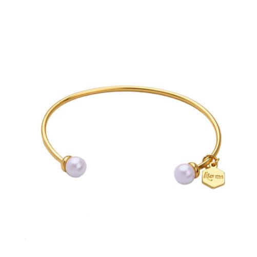bracelet jonc tendance perle