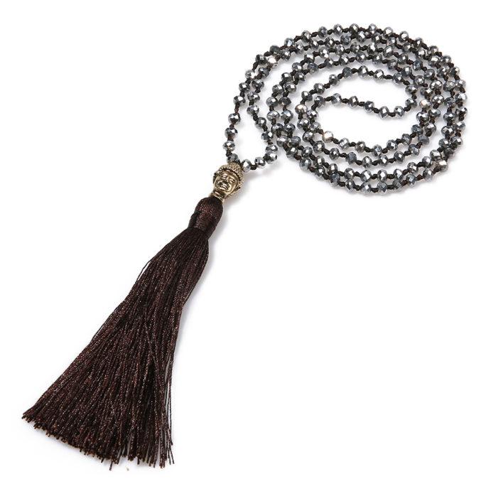collier yoga noir