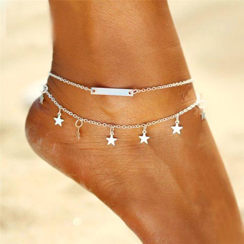 Bracelet de cheville etoile
