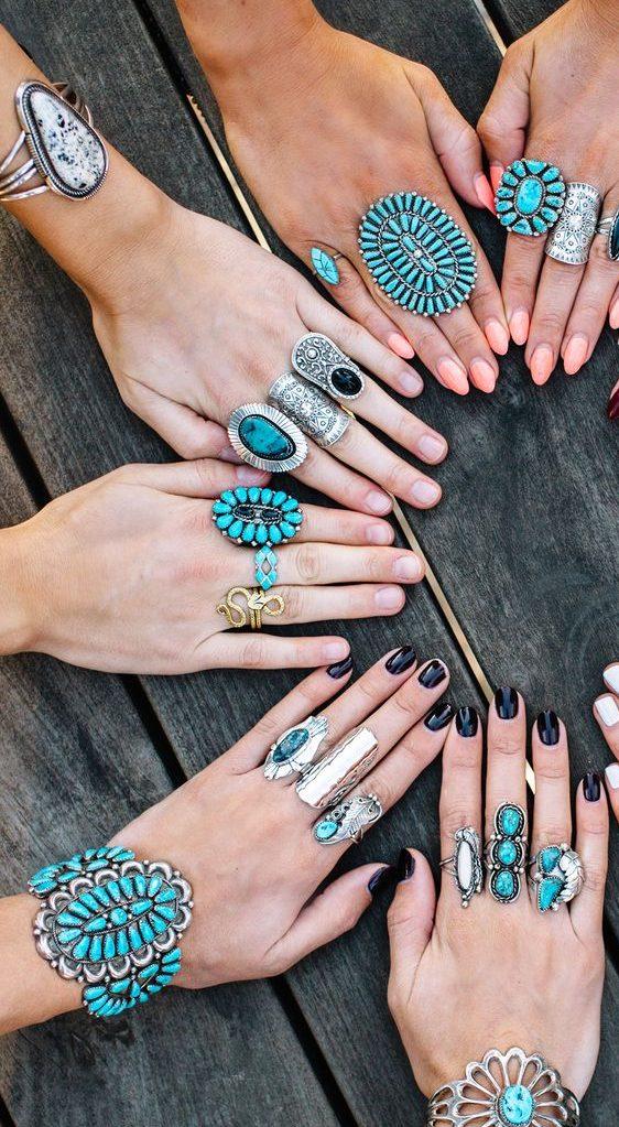 bijoux fantaisie turquoise