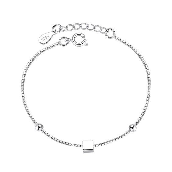 bracelet argent minimaliste