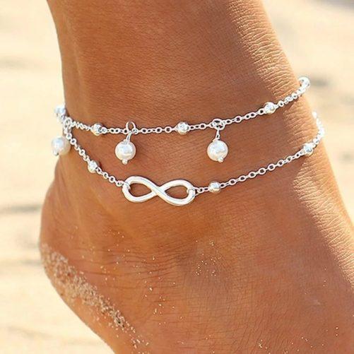 bracelet de cheville infini