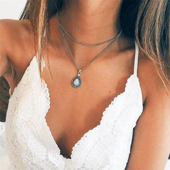 collier pendentif tendance