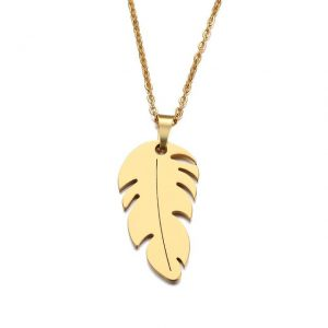 collier feuille joaillerie