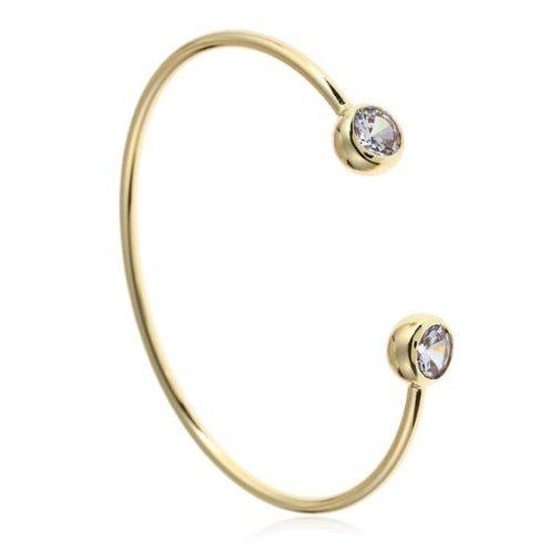 Bracelet jonc pierres Swarovski