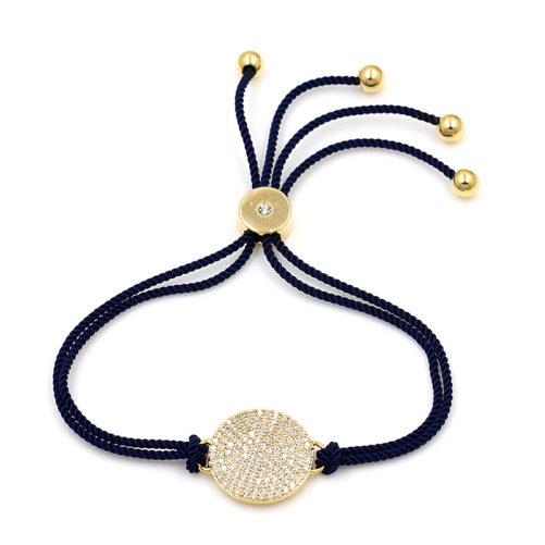 bracelet createur bleu marine