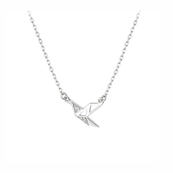 collier origami argent 925