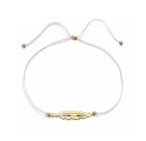 bracelet cordon plume