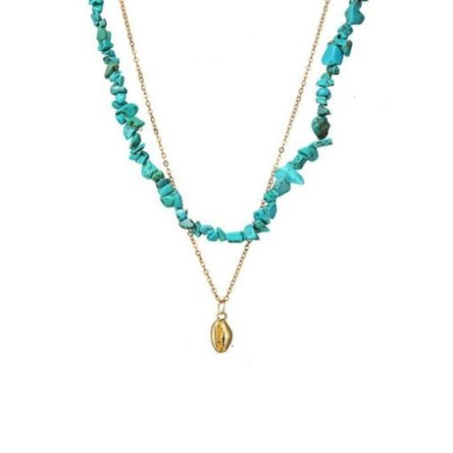collier createur turquoise