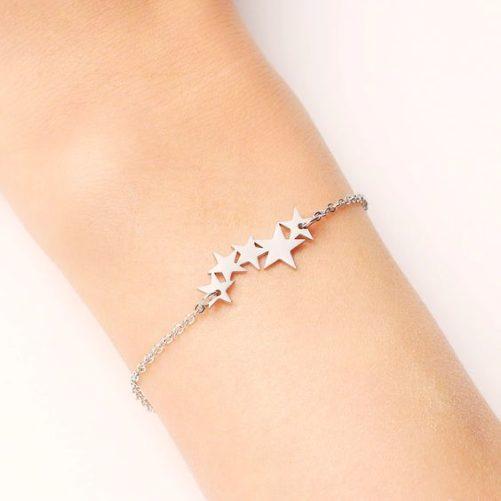 bracelet etoiles argente
