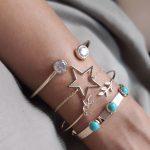 Bracelet etoile tendance