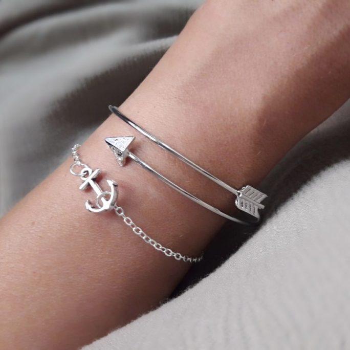 Bracelets tendance argent