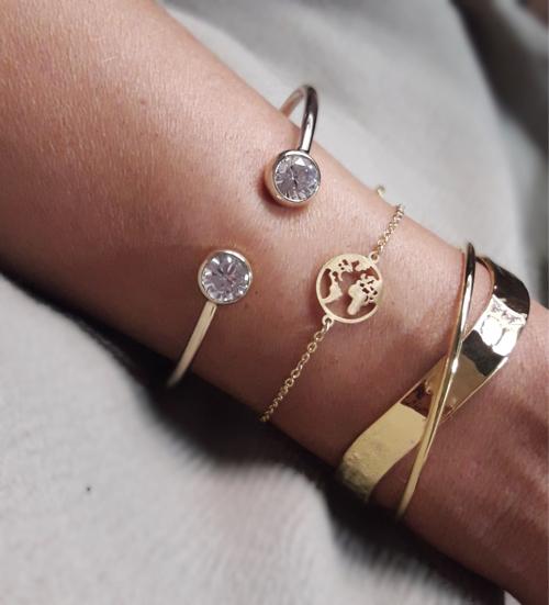 bracelet monde or