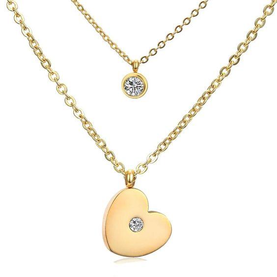 collier coeur cadeau femme