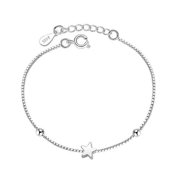 bracelet argent femme avec etoile