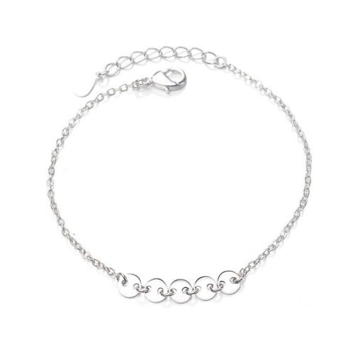 bracelet argent 925 pastille