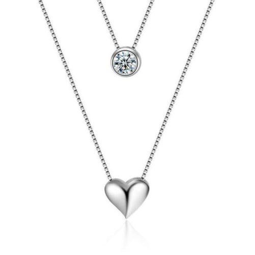 collier coeur argent 925 cadeau