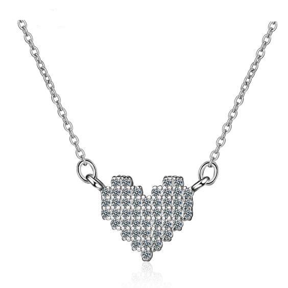 collier coeur argent 925
