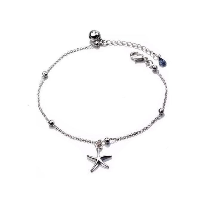 bracelet etoile de mer argent