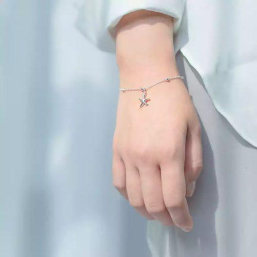 bracelet etoile mer argent cadeau