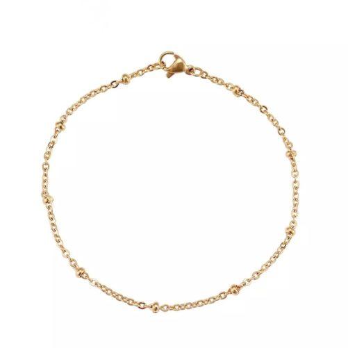 bracelet chaine perlee dore