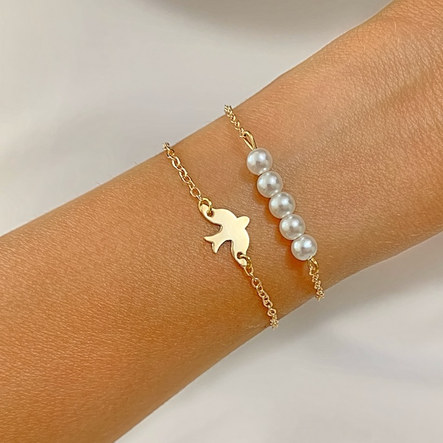bracelet dore tendance hiver 2021