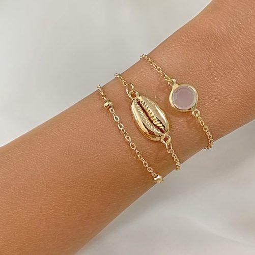 bracelet multitours dore