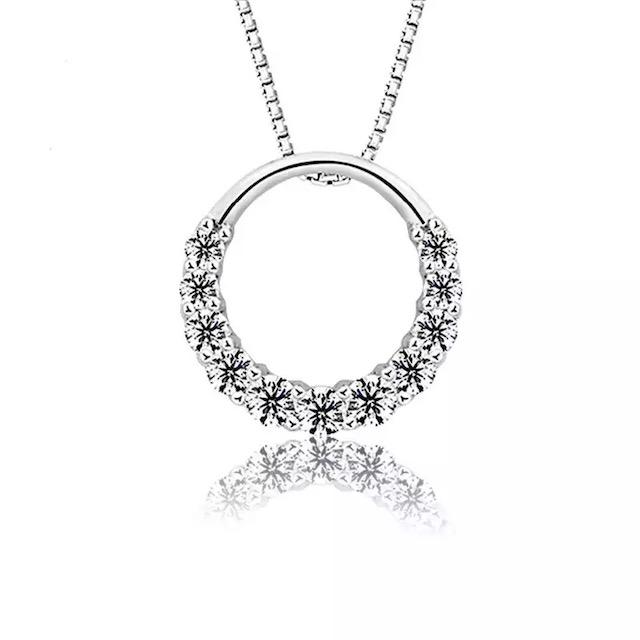 collier cercle oxyde de zirconium