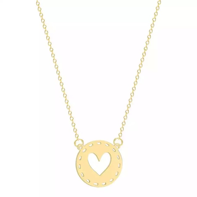 collier medaille coeur or